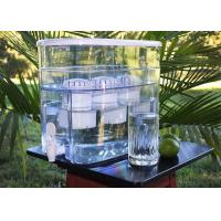 3 Filters Water Filter Dispenser , 1200L Lifetime Water Pitcher Dispenser With Tap Manufactures