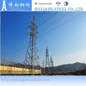 132kv steel power transmission line tower Manufactures