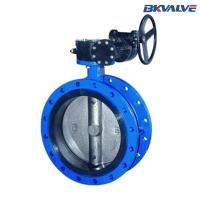 for liquid nitrogen Double flange price concentric butterfly valve Manufactures