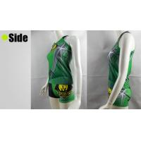 OEM Green Cheerleading Sports Bra Tops and Shorts , XS S M L XL XXL Size Manufactures