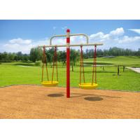 China Childrens Double Swing Set / Playground Swing Sets With Bold Beam Comfortable Chair on sale