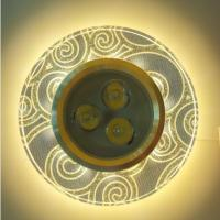 China led 3w glass round recessed downlight fixture with led strip SMD2835 for ceiling on sale