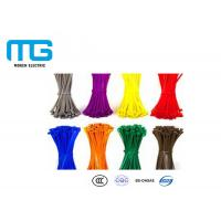 Wiring Accessories Locking Cable Ties , Industrial Zip Ties Nylon 66 Material Manufactures