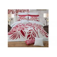 red flocking on cotton base fabric home duvet cover sheet set Manufactures