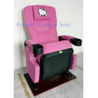 Hello Kity Headrest Cinema Theatre Chair Iso Certification Pp Armrest  Flame Retardant Fabric Manufactures