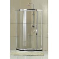 Qudrant  6 / 8 mm Clear Tempered Glass Shower Door With Chromed Finished Profiles Manufactures