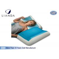 Blue Arctic Gel Contouring Memory Foam , Bedroom Cool Bed Pillow Manufactures