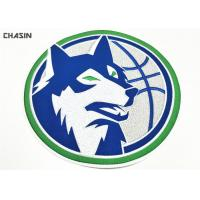 Large Clothing Embroidery Patches Heat Seal Wolf Logo Diameter 9 Inches Manufactures