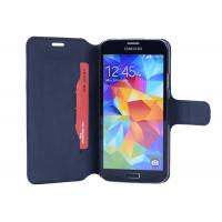 Black Samsung Leather Phone Cases For Samsung S5 , Fashion Case Manufactures