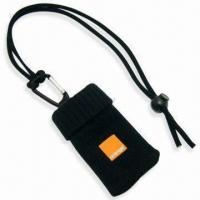 Handy Mobile Phone Sock Lanyard with Logo on PVC Rubber Label, Made of Polyester Manufactures