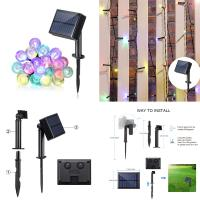 Waterproof multi colors 8 modes for switch holiday decoration led outdoor and indoor application fairy light solar strin Manufactures