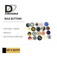 Fancy Colour Bulk Clothing Buttons , 4 Holes Plastic For Shirt Manufactures