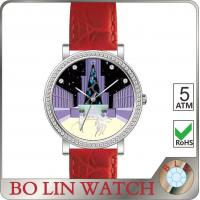 Stone - Finishing Dial Genuine Leather Watches For Girls Sapphire Glass Swiss Movement Manufactures