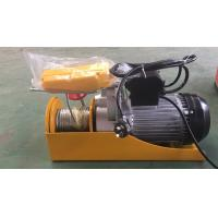 China PA1000 Mini Electric Wire Rope Hoist 1000kg With Urgent Stop Switch And Reinforced Breaking Switch on sale