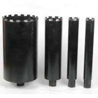 Black Wet Diamond Core Drill Bit , Diamond Hole Saw For Reinforcement Concrete Manufactures