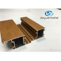 1.1mm - 1.6mm Thickness Wooden Grain Aluminum Window Extrusion Profiles SGS Manufactures