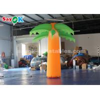 China Green And Yellow Christmas Inflatable Lighting Decoration /  Blow Up Tree on sale