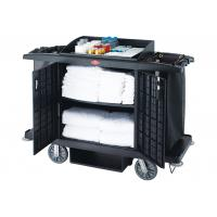 Black / Grey Room Service Equipments / Hotel Room Supplies 2 Shelves Transport Cart Manufactures