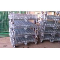 China Welded Wire Mesh Storage Cages On Wheels Easy Maintenance Loading Unloading on sale