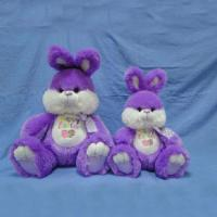 16inch Lovely Purple Easter The Bunnies Rabbit Push Toys For Festival Celebrate Manufactures
