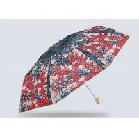 Unbreakable 5 Fold Umbrella Micro Travel Umbrella Flowers Trees Painting Manufactures