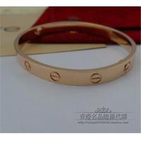 18K Pink Gold No Diamond LOVE Bracelet Paris Brand Jewelry Love Series Bangle B6035617 Manufactures