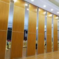 Sound Barrier Conference Hall Sliding Folding Walls System / Movable Partition Wall Manufactures