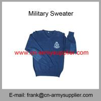 China Wholesale Cheap China Army Green Blue Tan Wool Acrylic  Police Military Jersey on sale
