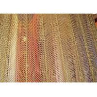 Aluminum Metal Mesh Curtains Screen Size Customized For Hotel And Restaurant Manufactures