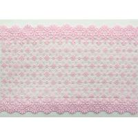 Fashion Pink Floral Embroidered Lace Trim With Chemical Poly Milk Silk For Women Manufactures