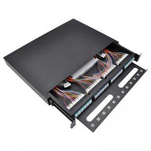 OTB 12 24 36 48 96 Core Fiber Optic Sliding Patch Panel Powder Coated Interface Manufactures