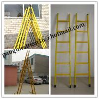 Single step extension FRP ladder,Easy handing fiberglass foldable ladder Manufactures