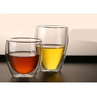 Colored Box Borosilicate Double Layer Glass Cup For Coffee Flower Tea Easy Clean Manufactures