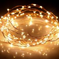 Buy cheap 33ft Long LED Rope Light 100 LEDs Battery Powered On Ultra Thin String Copper from wholesalers