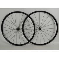 China Full Carbon Road Bike Wheels 700c Black With NOVATEC Straight Pull Hub on sale