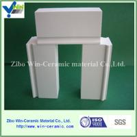 China Wear resistant high alumina ceramic brick for ball mill with good price on sale