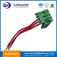 Pich 5.0mm Custom Wiring Harness With Latch Green Terminal Block 3P - PTFE / ETFE Manufactures