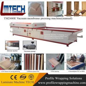 China kitchen cabinets door styles vacuum membrane press machine on sale