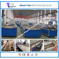 China Lightweight WPC Profile Extrusion Line for Decking Wood Plastic Composite Machine on sale