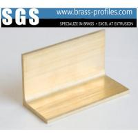 China Extruded Wrought Copper Alloy L Shape Sheet Brass L Sections Extruding on sale