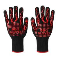 China Anti Slip Heat Resistant Silicone Oven Gloves 28 Cm - 36 Cm Size CE Approved on sale