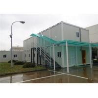 Two Stories Flat Pack Container House , Flat Pack Steel Containers With Rain Cover