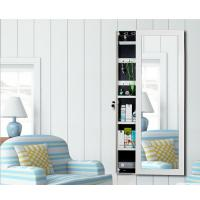 Lockable Wall Mirror With Jewelry Storage , Full Length Mirror Jewellery Cabinet Manufactures