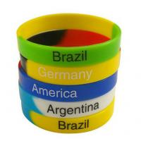 Green Yellow Blue Fashion Personalized Silicone Bracelets Charming Durable Manufactures
