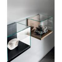 Wall Mounted Retail Display Cases , Small Wood And Glass Display Case Nest Wall Version Manufactures