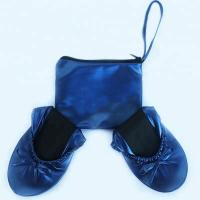Discount Cheap Price from China Wholesale Navy Blue Roll Up Driving Shoes with Printing Logo in a Bag Manufactures