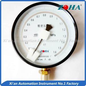 China Aluminium Case Precision Air Pressure Gauge / Low Pressure Gauge Bottom Mount on sale