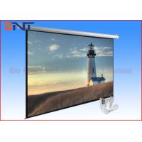 China 100 Inch Electric Projector Screen , Motorized Rear Projection Screen on sale