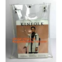 pvc shopping jelly bag promotional pvc duffle bag with handle, rope handle pvc reusable plastic shopping bag, promotiona Manufactures