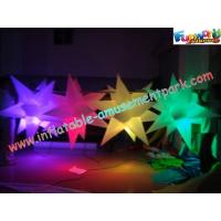 China Multicolor Club Inflatable Lighting Decoration Star 1.5 Meter With Blower on sale